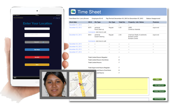 janitorial Time Tracking Software, Employee Time & Attendance Tracking Software & Mobile App, eQuest