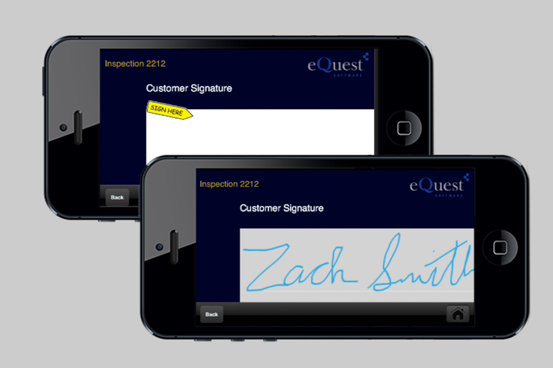 Obtain Customer sign-off on mobile device
